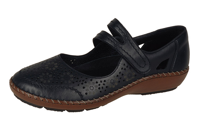 Rieker 44875-00 black strap shoe Sizes - 37 to 42 Price - £57.00 (20% off) £45.00