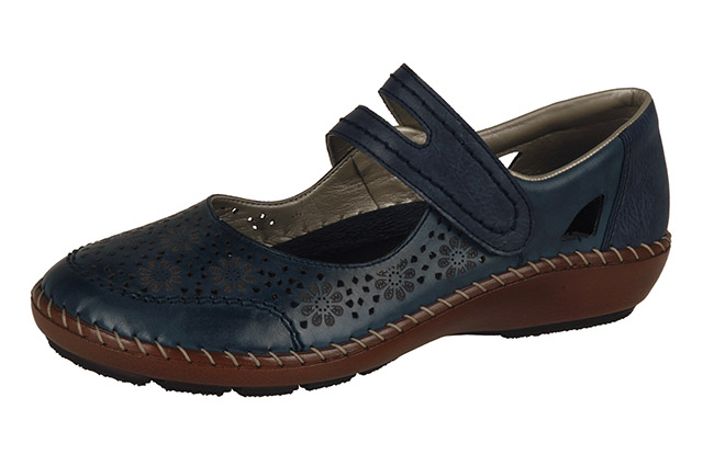 Rieker 44875-14 navy strap shoe Sizes - 36 to 42 Price - £57.00 (20% off) £45.00