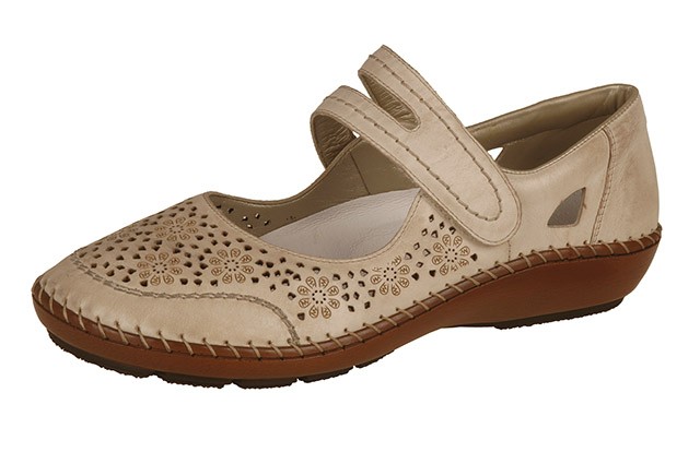 Rieker 44875-60 cream strap shoe Sizes - 37 to 42 Price - £57.00 (20% off) £45.00