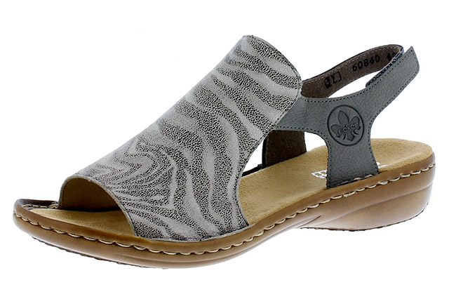 Rieker 60840-42 Grey elastic sandal  Sizes - 37 to 41  Price - £52.00 (20% off) £41.00