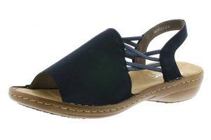 Rieker 608D1-14 navy elastic sandal Sizes - 37 to 42 Price - £49.00