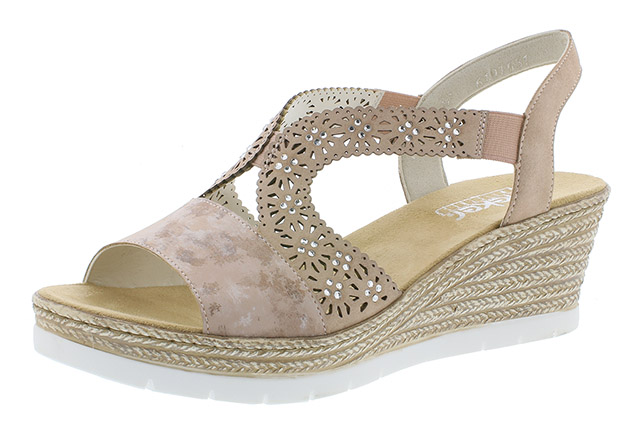 Rieker 61916-31 rosa strap wedge sandal Sizes - 37 to 42 Price - £55.00 (20% off) £44.00