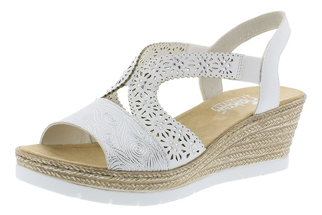 Rieker 61916-80 white wedge sandal Sizes - 36 to 41 Price - £55.00 (20% off) £44.00