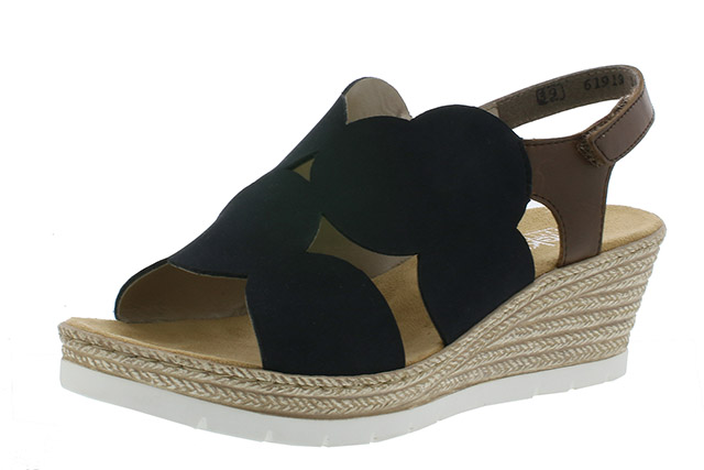 Rieker 61919-14 Navy wedge sandal  Sizes - 37 to 41  Price - £52.00 (20% off) £41.00