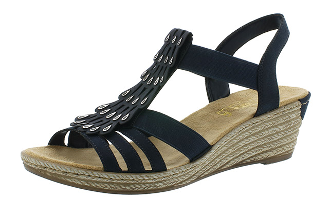 Rieker 62436-14 navy strap wedge sandal Sizes - 37 to 41 Price - £52.00 (20% off) £41.00