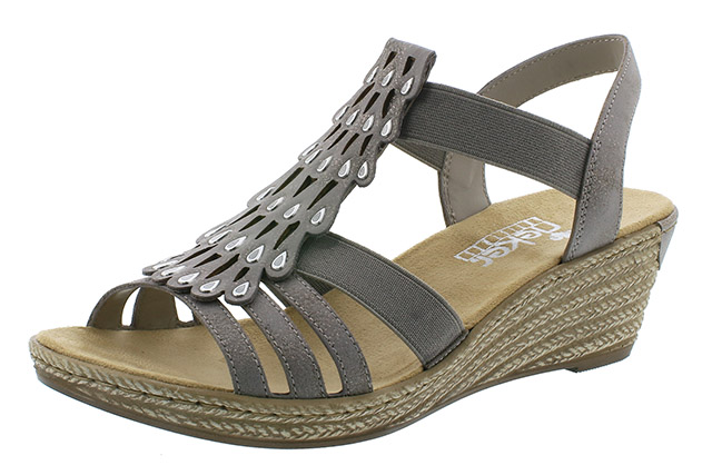 Rieker 62436-40 grey strap wedge sandal Sizes - 37 to 41 Price - £52.00 (20% off) £41.00