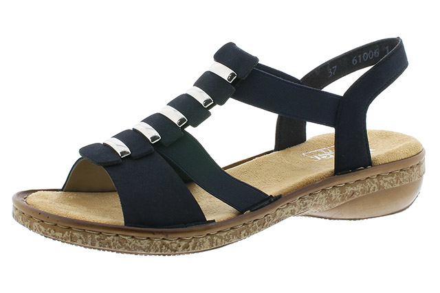 Rieker 62850-14 navy elastic sandal Sizes - 37 to 42 Price - £52.00 (20% off) £41.00
