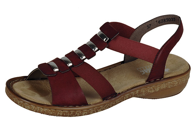 Rieker 62850-35 dark red elastic sandal Sizes - 37 to 41 Price - £52.00 (20% off) £41.00