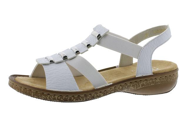 Rieker 62850-80 white elastic sandal Sizes - 36 to 41 Price - £52.00