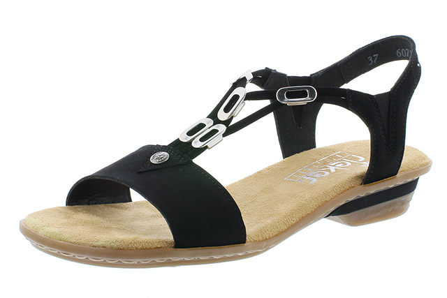 Rieker 63453-00 black strappy sandal Sizes - 37 to 41 Price - £52.00 (20% off) £41.00