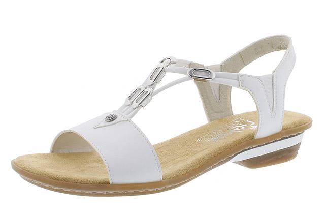 Rieker 63453-80 white strappy sandal Sizes - 37 to 41 Price - £52.00