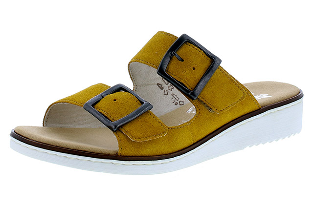 Rieker 63694-68 mustard twin strap mule  Sizes - 37 to 41  Price - £52.00 (20% off) £41.00