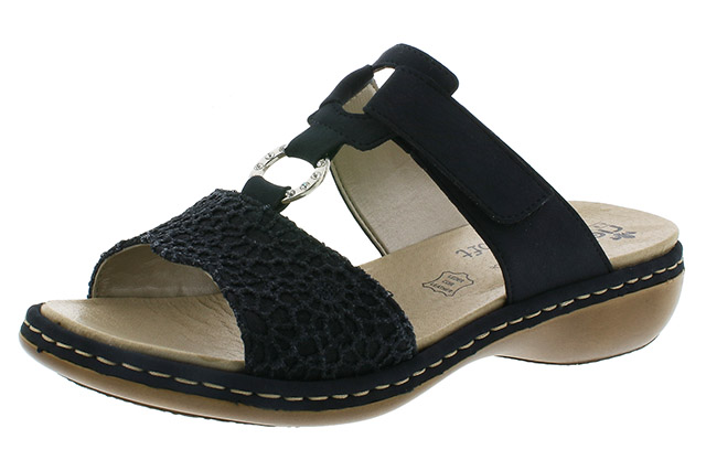 Rieker 65943-15 navy twin strap mule Sizes - 36 to 41 Price - £57.00 (20% off) £45.00