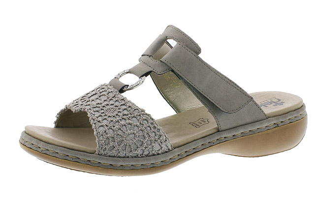 Rieker 65943-42 silver grey twin strap mule Sizes - 37 to 41 Price - £57.00 (20% off) £45.00