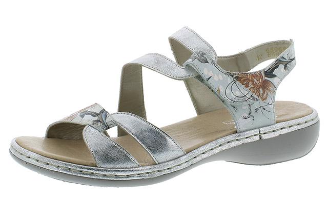 Rieker 65969-82 white metallic strap sandal Sizes - 37 to 41 Price - £52.00