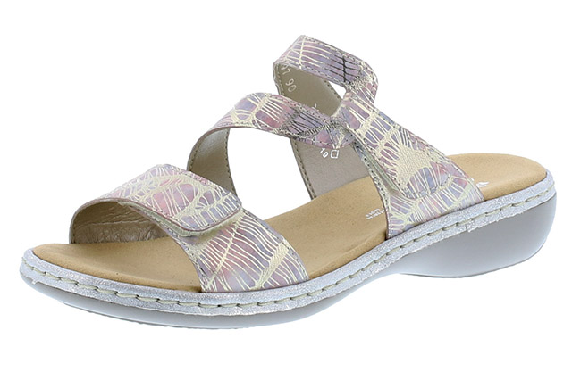 Rieker 65997-90 Silver multi strap mule  Sizes - 37 to 41  Price - £55.00 (20% off) ££44.00
