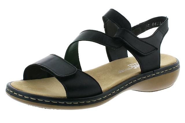 Rieker 659C7-00 black cross sandal Sizes - 37 to 41 Price - £57.00 (20% off) £45.00