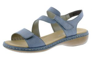 Rieker 659C7-12 Pale blue cross strap sandal  Sizes - 37 to 41  Price - £57.00
