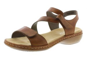 Rieker 659C7-24 Tan cross sandal Sizes - 37 to 42 Price - £57.00