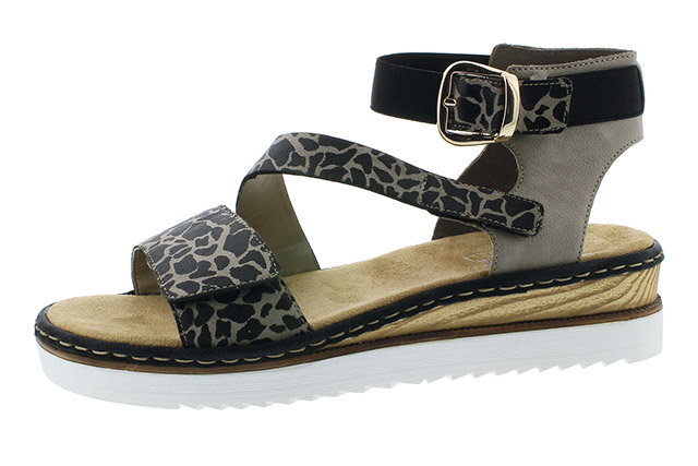 Rieker 67958-26 Girraffe print strap sandal Sizes - 37 to 42 Price - £55.00