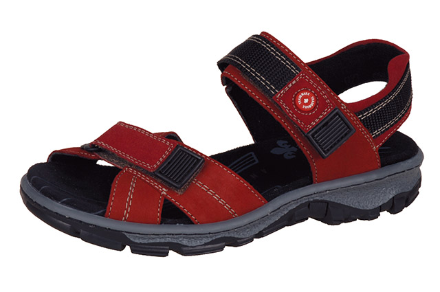Rieker 68851-33 red black hiker sandal Sizes - 36 to 42 Price - £57.00 (20% off) £45.00