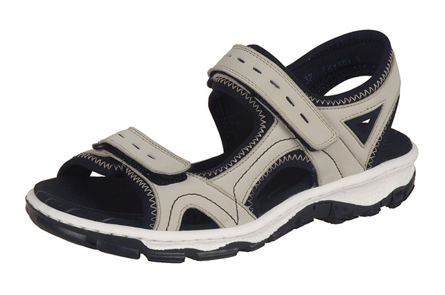Rieker 68866-61 cream black hiker sandal Sizes - 37 to 42 Price - £55.00 (20% off) £44.00