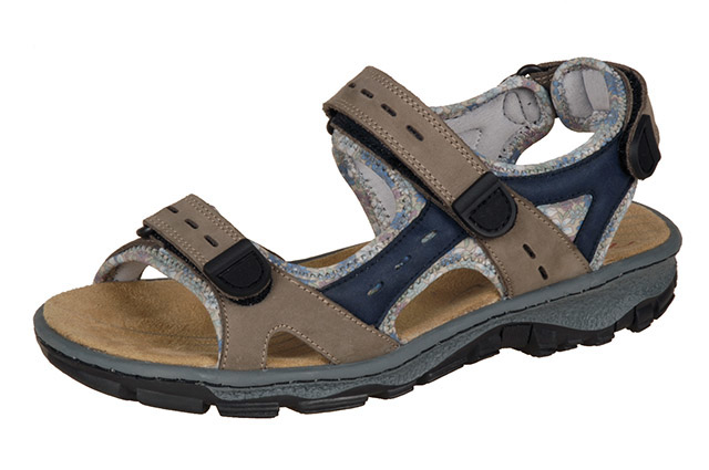 Rieker 68872-25 taupe blue hiker sandal Sizes - 37 to 42 Price - £59.00 (20% off) £47.00