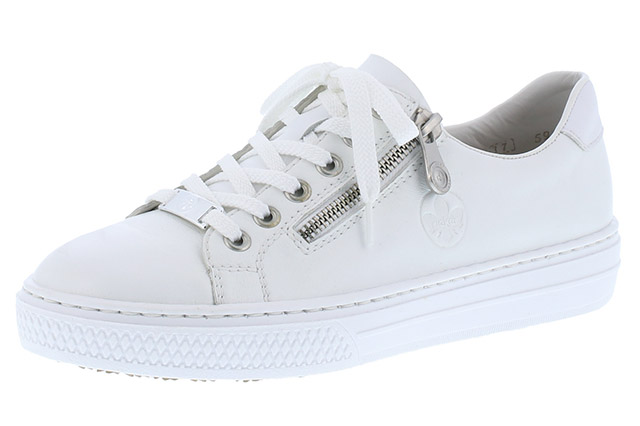 Rieker L59L1-80 White zip lace shoe  Sizes - 37 to 41  Price - £62.00 (20% off) £49.00