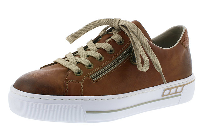 Rieker L88C2-24 tan zip lace shoe Sizes - 37 to 41 Price - £57.00 (20% off) £45.00