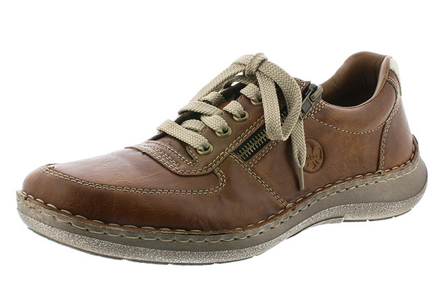 Rieker Mens 03030-25 Tan zip lace shoe Sizes - 41 to 45 Price - £59.00 (20% off) £47.00