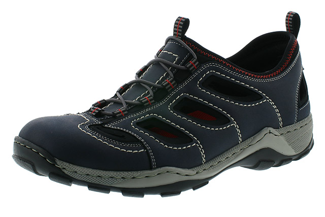 Rieker Mens 08065-15 navy combi elastic shoe Sizes - 41 to 45 Price - £59.00 (20% off) Now £47.00