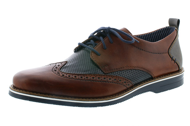 Rieker Mens 12532-24 navy tan brogue lace Sizes - 41 to 45 Price - £79.00 (20% off) £63.00