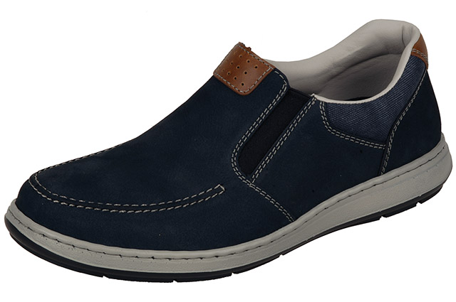 Rieker Mens 17360-15 navy punched casual shoe Sizes - 41 to 45 Price - £67.00 (20% off) £53.00