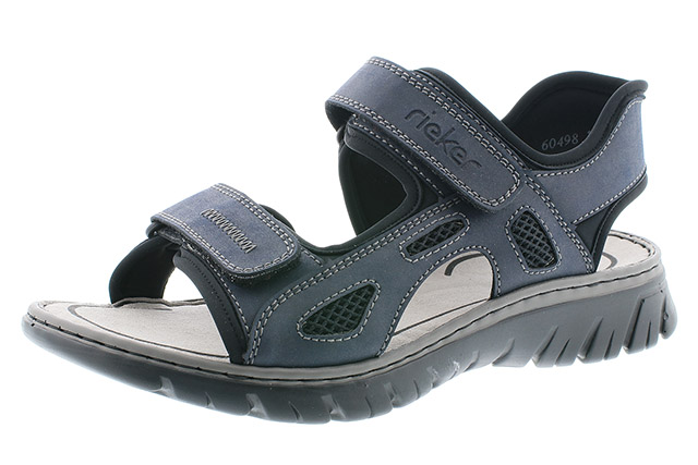 Rieker Mens 26761-14 navy black sandal Sizes - 41 to 45 Price - £55.00 (20% off) £44.00