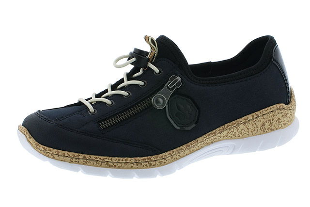 Rieker N4263-14 navy elastic shoe Sizes - 37 to 42 Price - £59.00 (20% off) £47.00