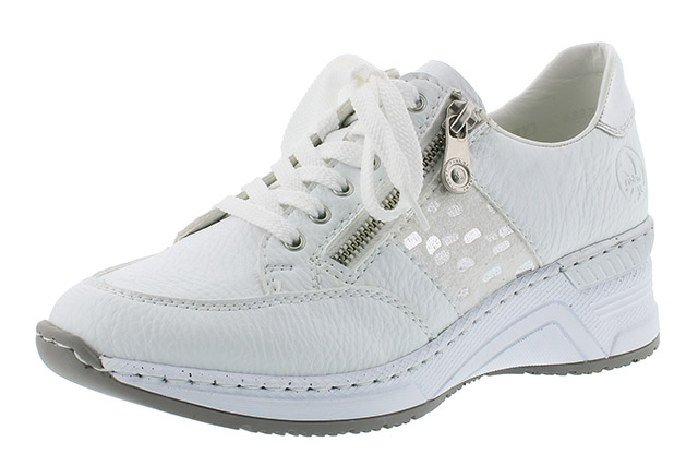 Rieker N4322-80 white zip lace shoe Sizes - 37 to 41 Price - £59.00 (20% off) £47.00