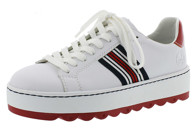Rieker N4622-81 white stripe lace shoe Sizes - 37 to 41 Price - £59.00 (20% off ) £47.00