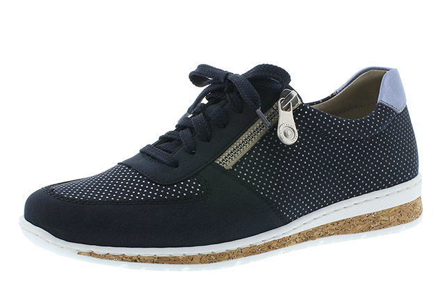 Rieker N5121-14 navy zip lace shoe Sizes - 37 to 41 Price - £57.00 (20% off) £45.00