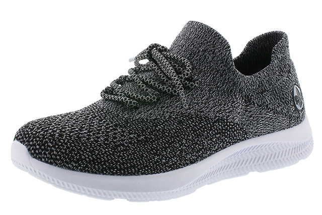 Rieker N9963-45 dark grey textile lace shoe Sizes - 37 to 41 Price - £55.00 (20% off) £44.00