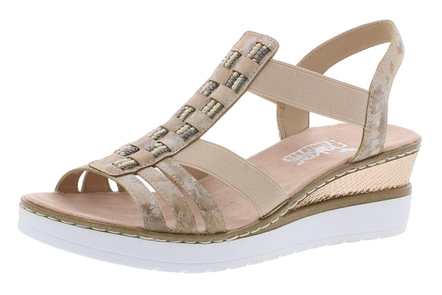 Rieker V3822-31 Rosa strap wedge sandal Sizes - 37 to 41 Price - £55.00 (20% off) £44.00