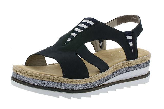 Rieker V79Y7-14 Navy white stripe sandal  Sizes - 37 to 41  Price - £57.00 (20% off) £45.00