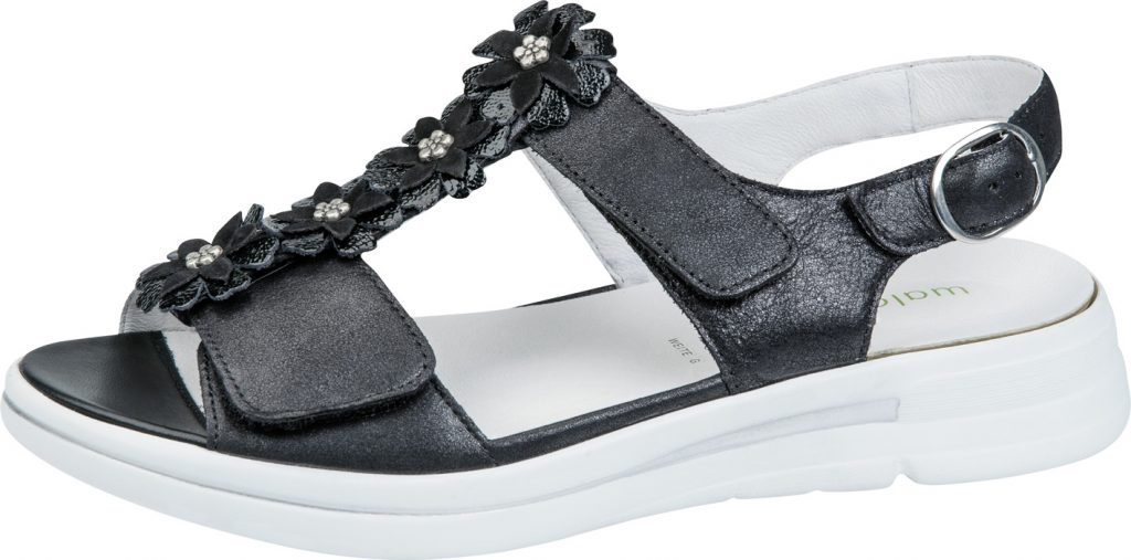 Waldlaufer 226004 G Sina black twin strap sandal Sizes - 5 to 8 Price - £72.00 (20% OFF) Now £57.00