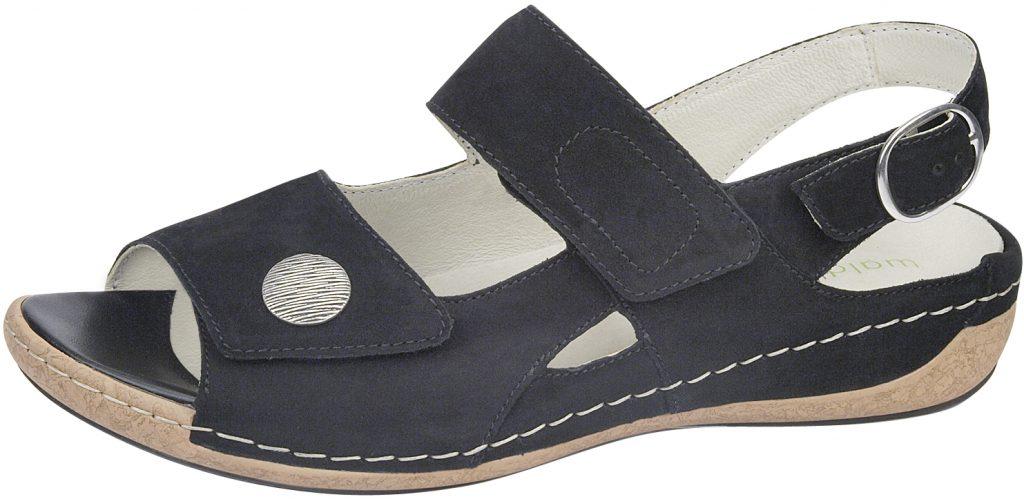Waldlaufer 342002 Heliett black twin stap sandal  Sizes - 4 to 7   Price - £62.00 (20% off) Now £49.00