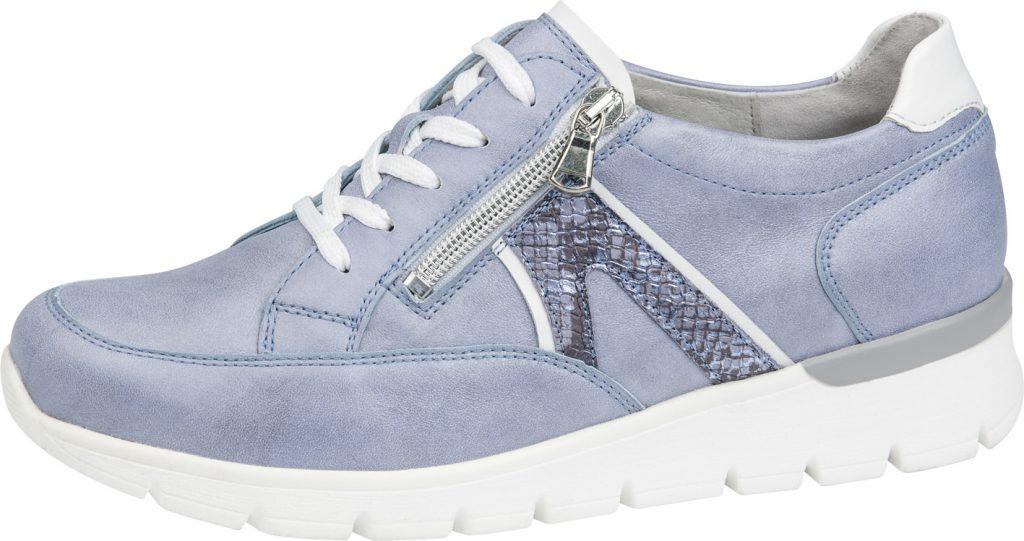Waldlaufer 626001 K Ramona Sky blue lace zip shoe Sizes - 4 to 7 Price - £79.00 (20% OFF) Now £63.00