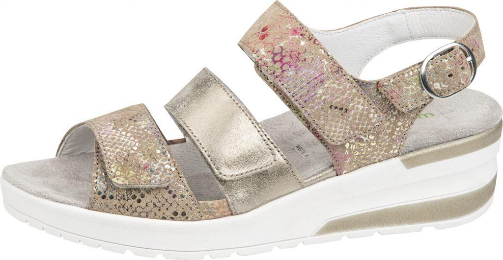 Waldlaufer 702001 H Claudia Metallic multi 3 strap sandal Sizes - 4 to 7 Price - £72.00 (20% off) Now £57.00