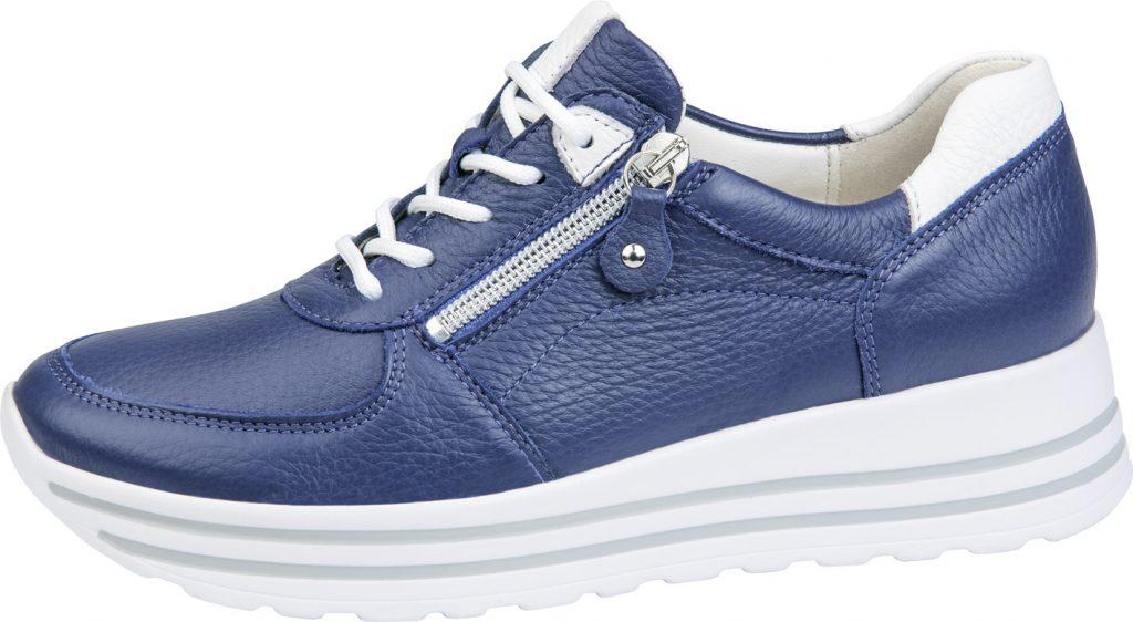 Waldlaufer 758001 H Lana Blue lace zip shoe Sizes - 4 to 7 Price - £79.00