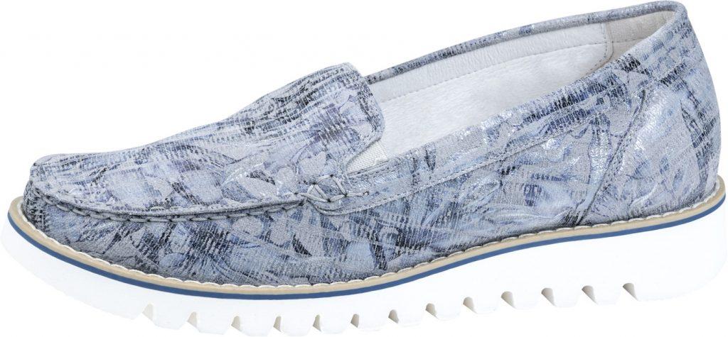 Waldlaufer 926501 Habea Grey sky multi moccasin shoe Sizes - 4 to 7 Price - £72.00 (20% OFF) Now £57.00