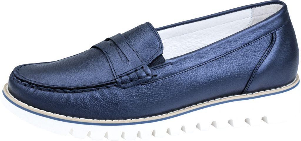 Waldlaufer 926504 navy metallic moccasin shoe Sizes - 5 to 8 Price - £72.00 (20% off) Now £57.00