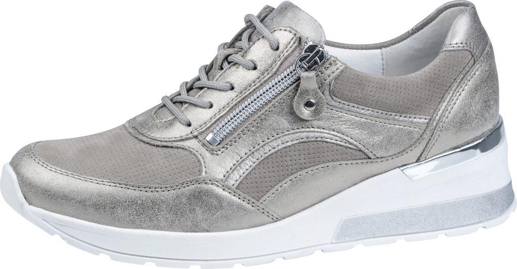 Waldlaufer 939011 H Clara Taupe metallic lace zip shoe Sizes - 4 to 7 Price - £72.00
