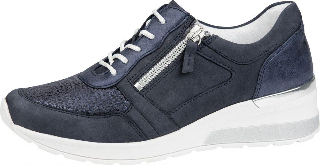 Waldlaufer 939H01 H Clara Navy zip lace shoe Sizes - 4 to 7 Price - £72.00